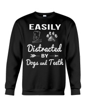 Easily Distracted By Dogs And Teeth Crewneck Sweatshirt thumbnail