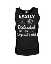 Easily Distracted By Dogs And Teeth Unisex Tank thumbnail