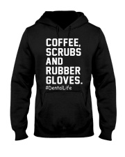 COFFEE SCRUBS AND RUBBER GLOVES Hooded Sweatshirt thumbnail