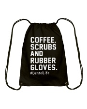 COFFEE SCRUBS AND RUBBER GLOVES Drawstring Bag thumbnail