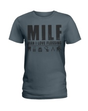MAN I LOVE FLOSSING Ladies T-Shirt thumbnail