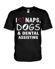 I love naps - dogs - dental assisting V-Neck T-Shirt thumbnail