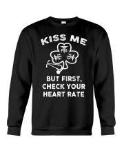 KISS ME - But First Check Your Heart Rate Crewneck Sweatshirt thumbnail