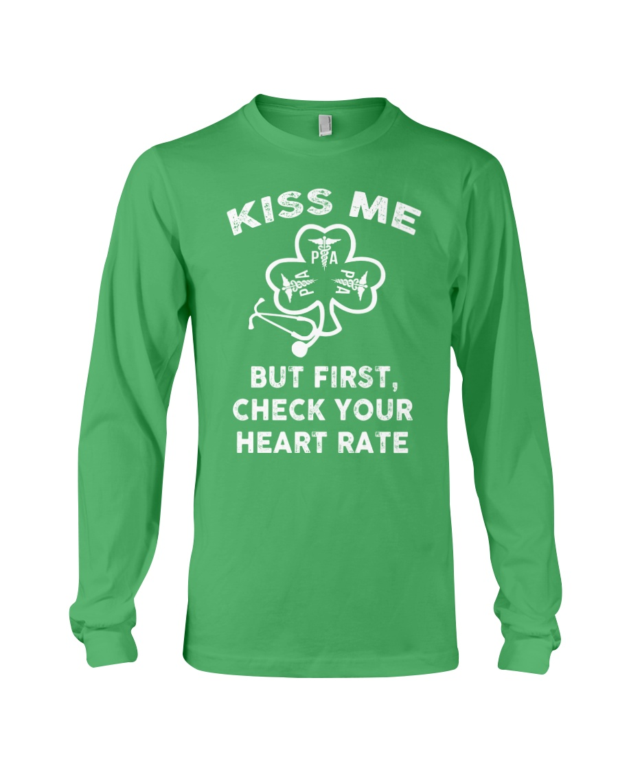 KISS ME - But First Check Your Heart Rate Long Sleeve Tee