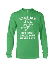 KISS ME - But First Check Your Heart Rate Long Sleeve Tee front