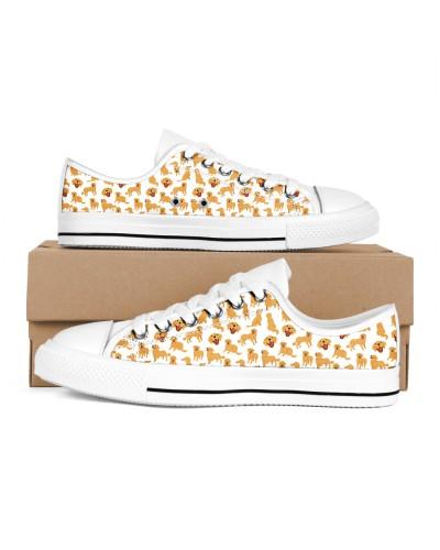 Golden Retriever Low Top Sneakers