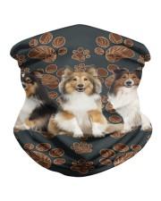 Shetland Sheepdog Floral Paw H25836 Neck Gaiter tile