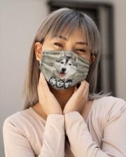 Awesome Siberian Husky G82719 Cloth face mask aos-face-mask-lifestyle-17