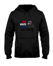 Red White Blue Owl Hooded Sweatshirt thumbnail