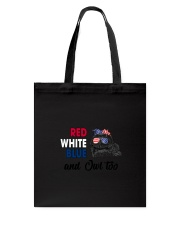 Red White Blue Owl Tote Bag thumbnail