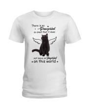 Cat Camp Mau White Ladies T-Shirt thumbnail