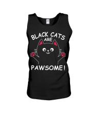 Black Cats Are Pawsome Unisex Tank thumbnail