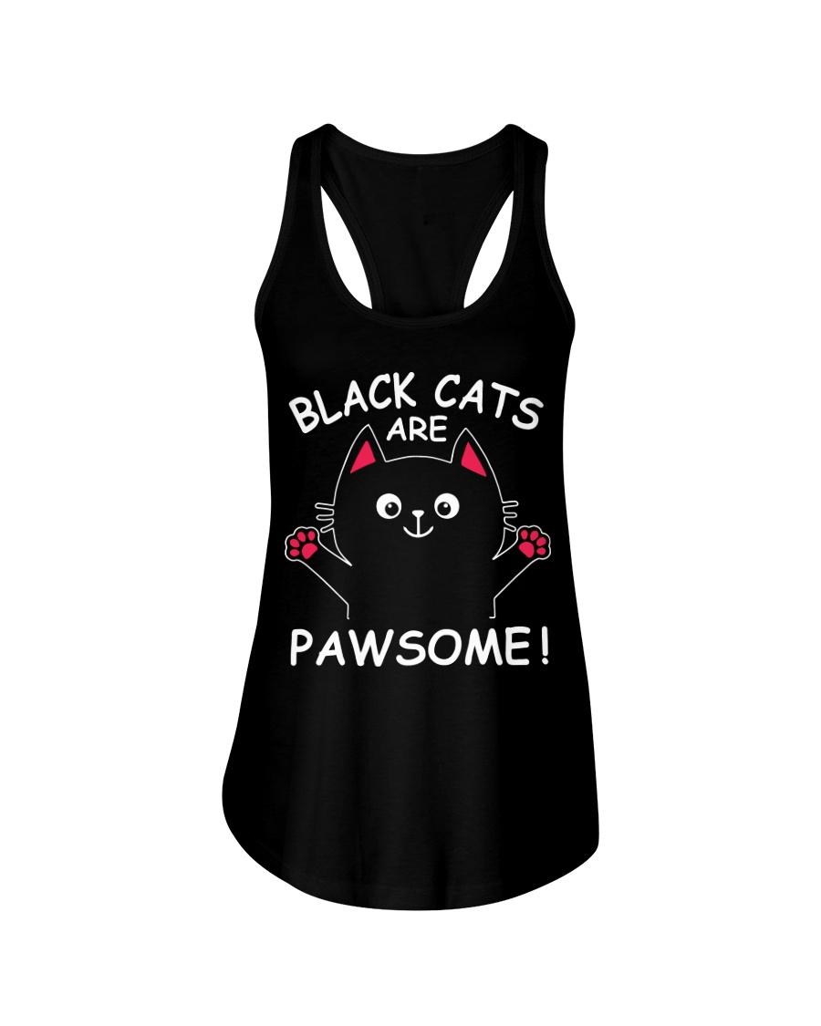 Black Cats Are Pawsome Ladies Flowy Tank