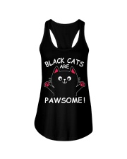 Black Cats Are Pawsome Ladies Flowy Tank front