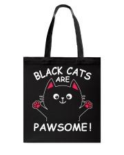Black Cats Are Pawsome Tote Bag thumbnail