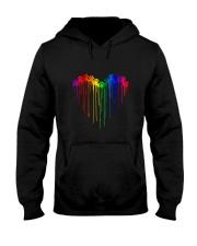 Dog Pawprint Heart Color T5tt Hooded Sweatshirt thumbnail