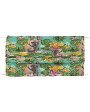Tropical Pineapple Bulldog H25817 Cloth face mask front