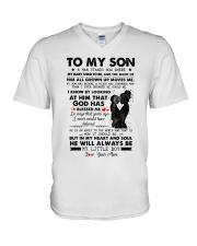 Family My Son My Little Boy V-Neck T-Shirt thumbnail