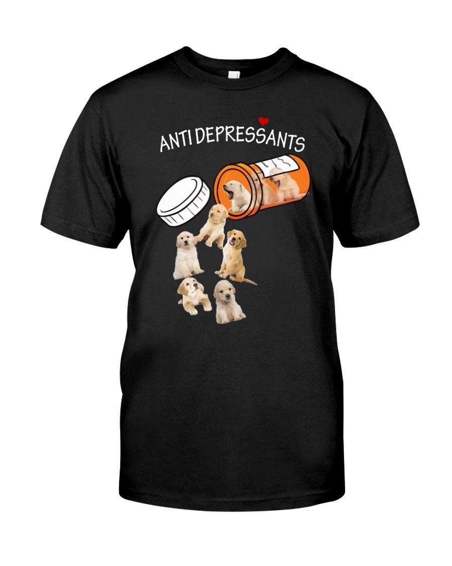 Golden Retriever Anti Classic T-Shirt