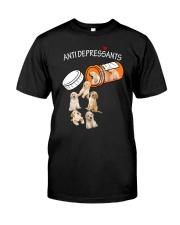 Golden Retriever Anti Classic T-Shirt front
