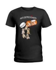Golden Retriever Anti Ladies T-Shirt thumbnail