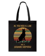 Love and a German Shepherd Tote Bag thumbnail