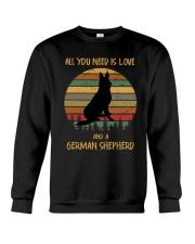 Love and a German Shepherd Crewneck Sweatshirt thumbnail