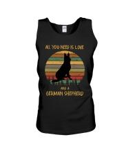 Love and a German Shepherd Unisex Tank thumbnail