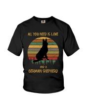Love and a German Shepherd Youth T-Shirt thumbnail