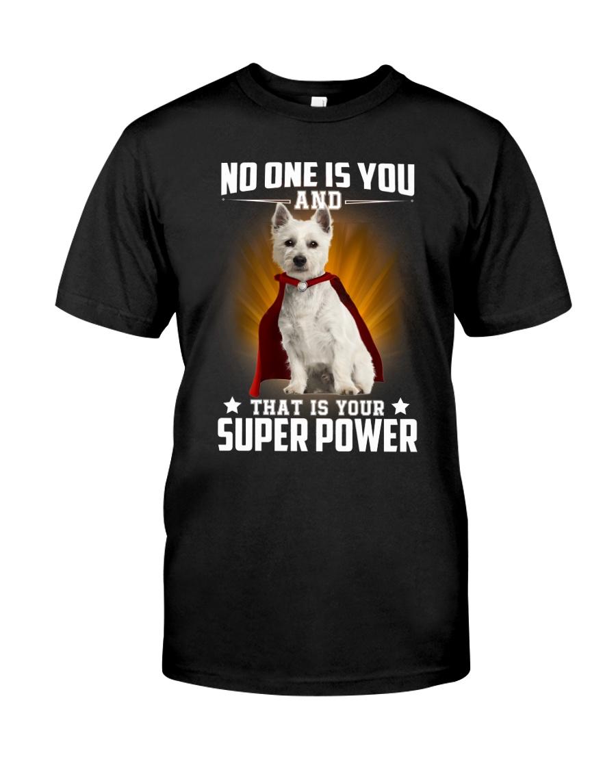 West Highland White Terrier Super Power Classic T-Shirt