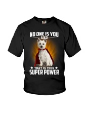 West Highland White Terrier Super Power Youth T-Shirt thumbnail