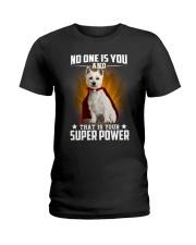 West Highland White Terrier Super Power Ladies T-Shirt thumbnail