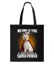 West Highland White Terrier Super Power Tote Bag thumbnail