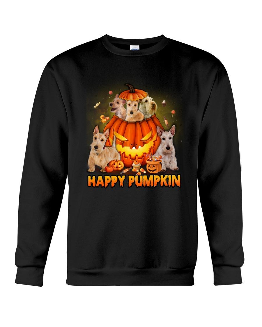 Scottish Terrier Happy Pumpkin Crewneck Sweatshirt
