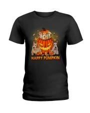 Scottish Terrier Happy Pumpkin Ladies T-Shirt thumbnail