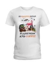Flamingos Runs On Ladies T-Shirt thumbnail