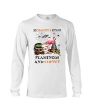 Flamingos Runs On Long Sleeve Tee thumbnail