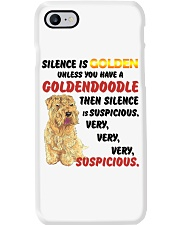 Goldendoodle - Silence is very suspicious Phone Case thumbnail