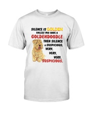 Goldendoodle - Silence is very suspicious Classic T-Shirt thumbnail
