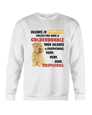 Goldendoodle - Silence is very suspicious Crewneck Sweatshirt thumbnail