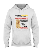 Goldendoodle - Silence is very suspicious Hooded Sweatshirt thumbnail