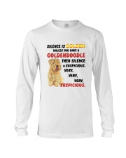 Goldendoodle - Silence is very suspicious Long Sleeve Tee thumbnail