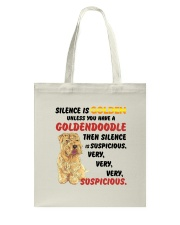 Goldendoodle - Silence is very suspicious Tote Bag thumbnail