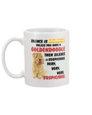 Goldendoodle - Silence is very suspicious Mug back