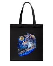 Alpha Wolf and Moon Tote Bag thumbnail