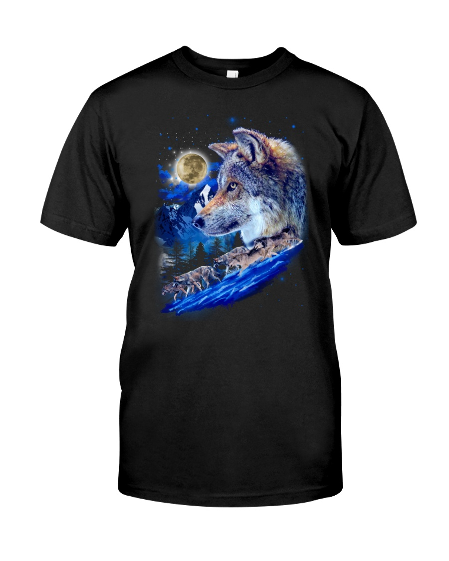 Alpha Wolf and Moon Classic T-Shirt
