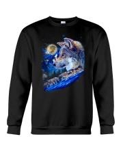 Alpha Wolf and Moon Crewneck Sweatshirt thumbnail