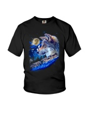Alpha Wolf and Moon Youth T-Shirt thumbnail