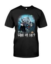 Pug Wine or Die Classic T-Shirt thumbnail