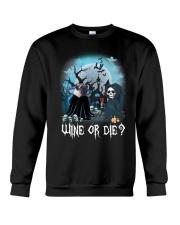 Pug Wine or Die Crewneck Sweatshirt front